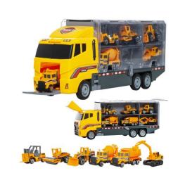 Camion cu 6 Vehicule de Constructie