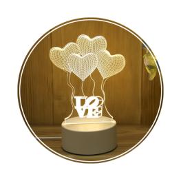 Lampa 3D LOVE