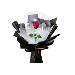 Trandafir in Balon cu Lumini LED